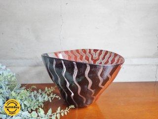 コスタボダ Kosta Boda トンガコレクション Tonga Collection ボウル ガラスベース モニカ・バックストローム Monica Backstrom デザイン スウェーデン ♪