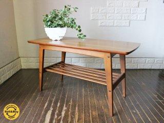 カリモク60 リビングテーブル コーヒーテーブル Sサイズ ウォールナットカラー デコラトップ ミッドセンチュリーデザイン ◎