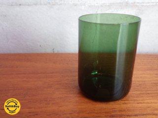 ヌータヤルヴィ Nuutajarvi カイフランク Kaj Franck #1722 ショットグラス グリーン♪