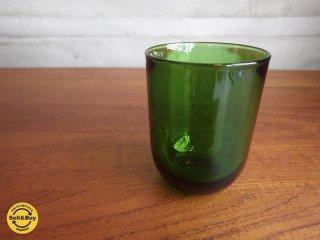 ヌータヤルヴィ Nuutajarvi カイフランク Kaj Franck #5023 タンブラーグラス グリーン A♪