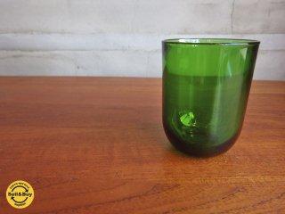 ヌータヤルヴィ Nuutajarvi カイフランク Kaj Franck #5023 タンブラーグラス グリーン B♪
