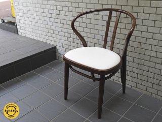 秋田木工 akimoku ダイニングアームチェア No.503 ブラウン 食卓椅子 IDC大塚家具取扱 A ■