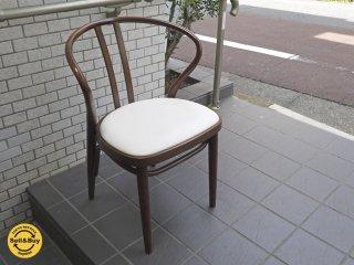 秋田木工 akimoku ダイニングアームチェア No.503 ブラウン 食卓椅子 IDC大塚家具取扱 C■