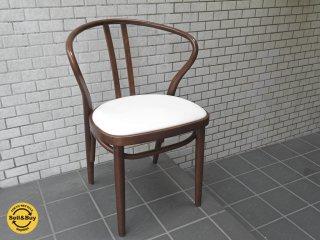 秋田木工 akimoku ダイニングアームチェア No.503 ブラウン 食卓椅子 IDC大塚家具取扱 D■
