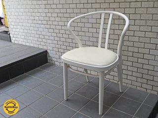 秋田木工 akimoku ダイニングアームチェア No.503 ホワイト 食卓椅子 IDC大塚家具取扱 A■