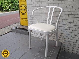 秋田木工 akimoku ダイニングアームチェア No.503 ホワイト 食卓椅子 IDC大塚家具取扱 B■