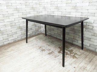 秋田木工 akimoku ダイニングテーブル ブラックカラー IDC大塚家具取扱 ●