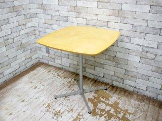 モモナチュラル Momo natural カフェテーブル スクエア メープル天板 Xレッグ ナチュラル ●