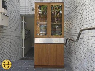 ウニコ unico ストラーダ STRADA カップボード 食器棚 アッシュ材×ステンレス 希少 廃番モデル ■