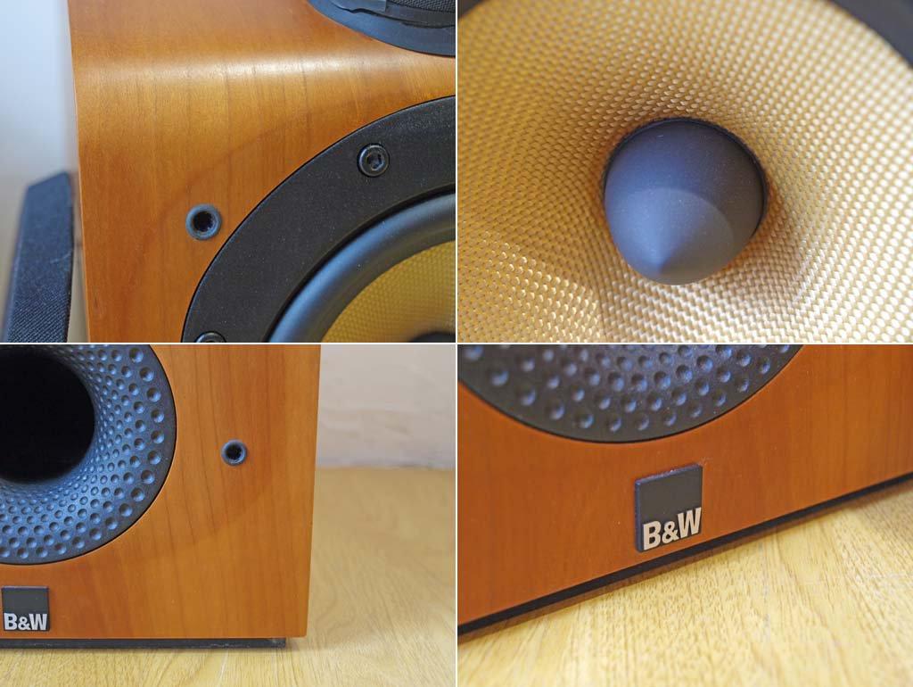 バウワース&ウィルキンス Bowers & Wilkins Model 705 ノーチラスツイーター搭載 ブックシェルフスピーカー 連番ペア チェリー材 B&W ★
