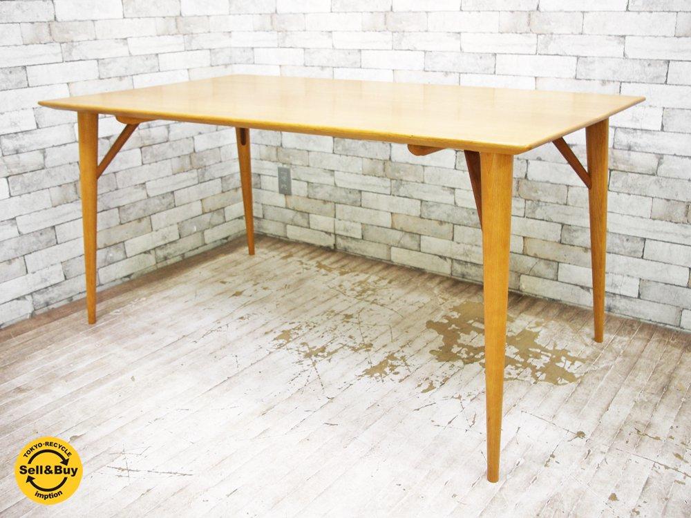 日進木工 Nissin ホワイトウッド White Wood シリーズ オーク材 ダイニングテーブル WOT-681 W150cm 定価¥179.280- ●