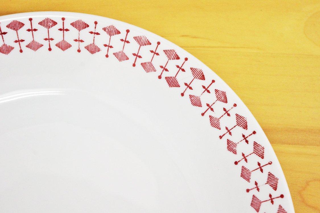 ロールストランド Rorstrand ヴァリアント VARIANT 21cm プレート 幾何学模様 スウェーデン B ●
