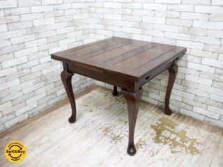 ロイズアンティークス Lloyd's Antiques ドローリーフテーブル 伸長式 UKアンティーク ●