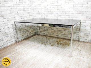 ハラーシステム USM Haller テーブル ワーキングテーブル デスク ブラックオーク W175cm ●