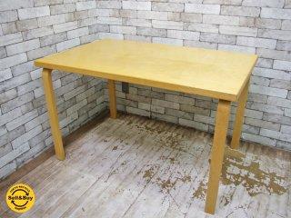 アルテック artek 81B テーブル バーチ材 ナチュラル アルヴァアアルト Alvar Aalto 北欧家具 フィンランド ●