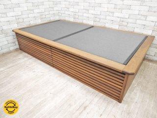 飛騨フォレスト 畳ベッド セミダブル SD 小上がり 土間 すのこ ウォールナット 無垢材 オーダー品 和モダンスタイル ●