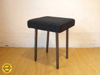 ジャーナルスタンダードファニチャー journal standard Furniture リージェントスツール Regent stool ブラックファブリック アイアンレッグ カフェスツール ★