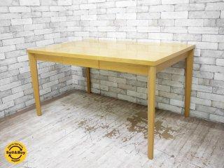 ケユカ KEYUCA ダイニングテーブル ビーチ材 両面引き出し ナチュラル シンプルデザイン ●