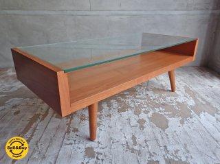 ウニコ unico エッコ ECCO ガラス天板 ローテーブル センターテーブル ♪