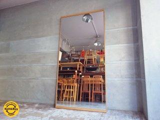 特大 オーク材フレーム ウォールミラー 姿見 全身鏡  H180cm♪
