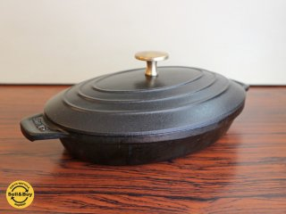ストウブ STAUB オーバル ホットプレート 23cm ホーロー鍋 オーバル鍋 ◎