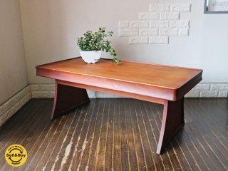 チーク材 センターテーブル ローテーブル W120cm ビンテージ ◎