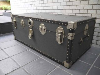 ビンテージ トランクケース 鋲打ち ボックス テーブル レトロ ディスプレイ 店舗什器 ■