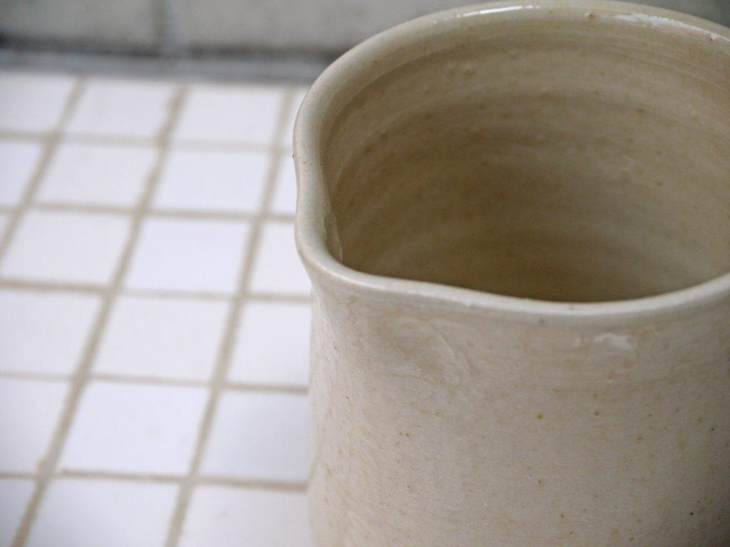 市川孝 白瓷 シュガーポット スプーン 蓋つき  無垢削り出し ■