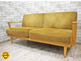 トラックファニチャー TRUCK furniture トーチ TORCH Sofa 2Pソファ 2シーター ウッドアーム コーデュロイ 廃盤 ●