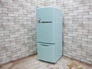 ナショナル National ウィル WiLL Fridge mini 冷蔵庫 162L ターコイズ カラー 2004年製 ●
