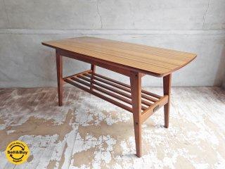 カリモク60 リビングテーブル コーヒーテーブル Sサイズ ウォールナットカラー デコラトップ ミッドセンチュリーデザイン♪