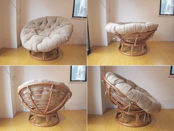 アクメファニチャー ACME Furniture ウィッカー イージーチェア Wicker Easy Chair ラタンフレーム オットマン付 カリフォルニアスタイル ★
