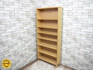 無印良品 MUJI 組み合わせて使える木製収納 本棚 シェルフ タモ材 ナチュラル ●