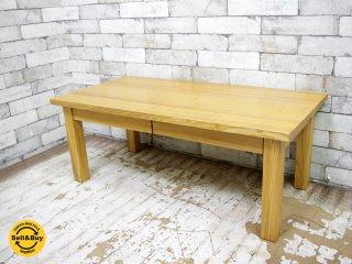 無印良品 MUJI 木製ローテーブル タモ材 無垢材 w90cm ナチュラル シンプルデザイン ●