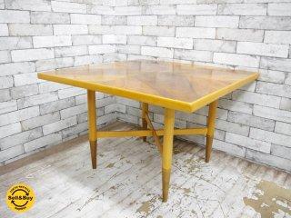 USビンテージ センターテーブル コーヒーテーブル スクエア型 ●