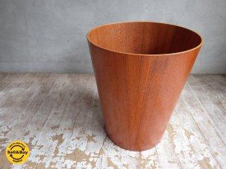 サイトーウッド SAITO WOOD チーク材 ゴミ箱 H30cm ヴィンテージ品 ♪