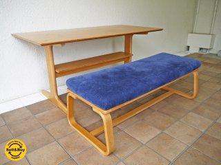 無印良品 MUJI リビングでもダイニングでも使える テーブル ・ 2 & ベンチ 別売りカバー付き 3点セット 総額68,900円 ◇