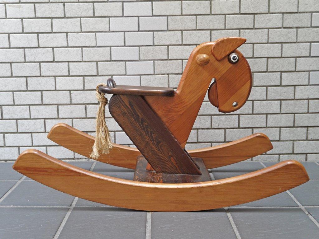 テデ tede JANOSCHIK ロッキングホース 木馬 無垢材 乗用玩具 ドイツ ■