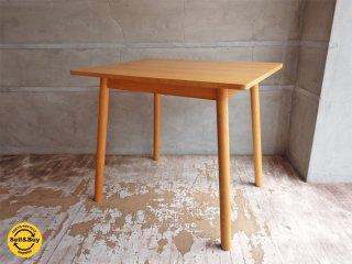 無印良品 MUJI リアルファニチャー オーク材 ダイニングテーブル 丸脚 幅85cm ♪
