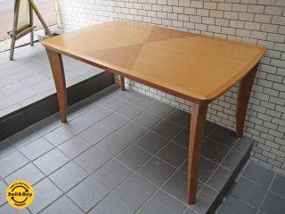 日進木工 nissin ダイニングテーブル バーズアイメープル 飛騨家具 アクタス取扱 ■