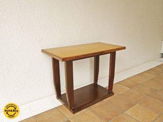 ジャパンビンテージ サイドテーブル ナイトテーブル ローテーブル テレビ台 飾り台 木味 古家具 レトロ ◇