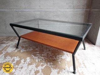 フランフラン Francfranc メリオル ローテーブル センターテーブル Lサイズ ガラス × アイアン ♪