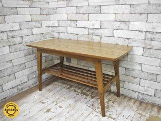 カリモク60 karimoku リビングテーブル Sサイズ ウォールナットカラー デコラトップ ミッドセンチュリー ●