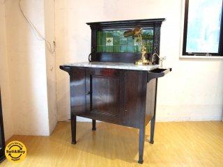 イギリス アンティーク UK antique ウォッシュスタンド マーブル天板 大理石 キッチン 洗面 店舗 インテリア ★