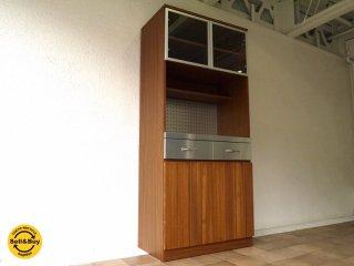ウニコ unico ストラーダ STRADA 廃番 キッチンボード ・ S オープンタイプ W800 エルムウッド / ニレ材 カップボード 食器棚 レンジボード 定価¥116,640- ◇