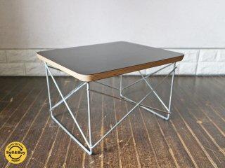ハーマンミラー HermanMiller イームズ LTRT ローテーブル ワイヤーベーステーブル ブラック ◎