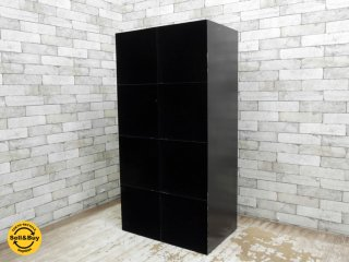 インダストリアルスタイル オープンシェルフ 2×4 スチール製 ブラック ●