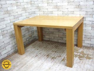 タモ無垢材 ダイニングテーブル ナチュラルスタイル クラフト系 シンプル アッシュ  W120 ●