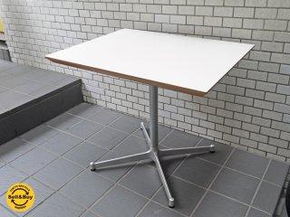 ディーアンドデパートメント D&DEPARTMENT カフェテーブル Cafe Table メラミン天板 クロームメッキ X脚 ミッドセンチュリー ■