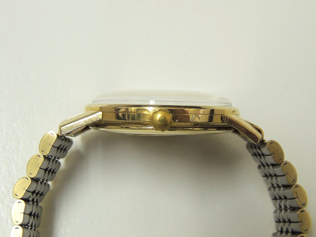 セイコー KING SEIKO キングセイコー ファーストモデル 14KGF 金張り 手巻き 盾メダリオン 1961年製 ●